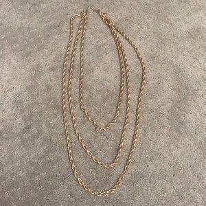 Jewelry - Long layered gold chain necklace
